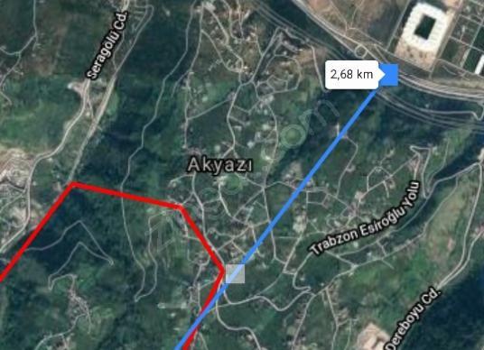 Ortahisar Akyazı'da Satılık 3.400m2 Fırsat Arsa