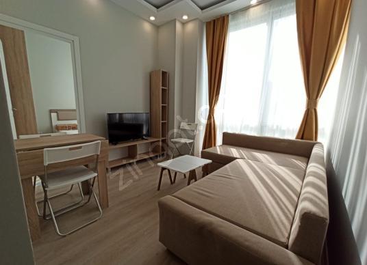 Çeliktepe Kiralık Eşyalı Sıfır Daire 1+1 Metro 2dk Pro-Flats1 - Yatak Odası