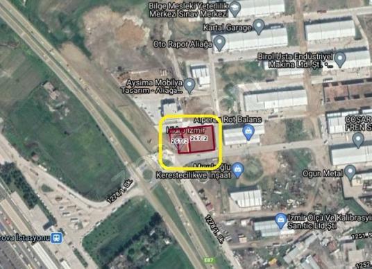 Bülent ATEŞCİ'den Aliağa Sanayisi Girişinde 2584 m2 İmarlı Arsa - Harita