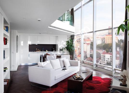 Taksim Elysium Otel Kiralık 1+1 120 m2 Loft Daire rixos