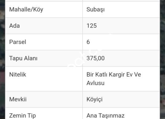 izmir Torbalı Subaşı'da Satılık  arsa cesurlar emlak - Kat Planı