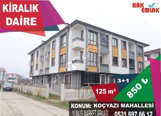 Hak Emlak'tan Koçyazı Mahallesinde Kiralık 125 m2 3+1 Daire