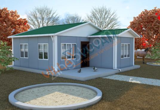 49 m² 2+1 PREFABRİK EV MODELİ (KAMPANYALI FİYATLAR İCİN ARAYIN )