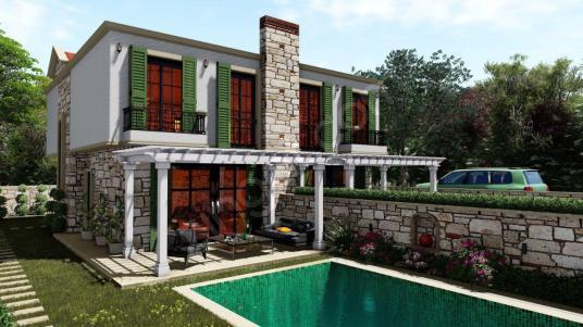 Çeşme Şifne de Müstakil Havuzlu Bahçeli 1.Sınıf İşçilik Villa - Dış Cephe