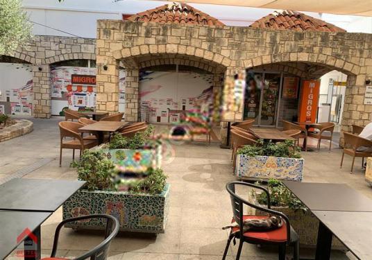 Bodrum Oasis'te Migros karşısında 60m2 mağaza - Balkon - Teras