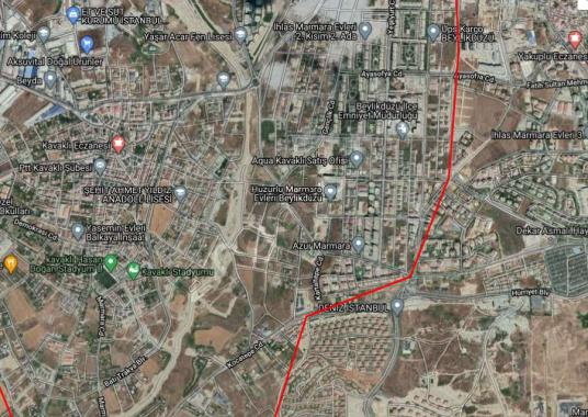 BEYLİKDÜZÜ KAVAKLIDA SATILIK ARSA 1041 M2 KONUT İMARLI - Harita