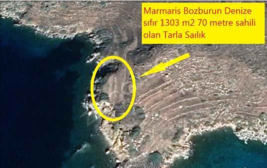 Marmaris Bozburun denize sıfır 1303 m2 70 mtr sahil Tarla - Manzara