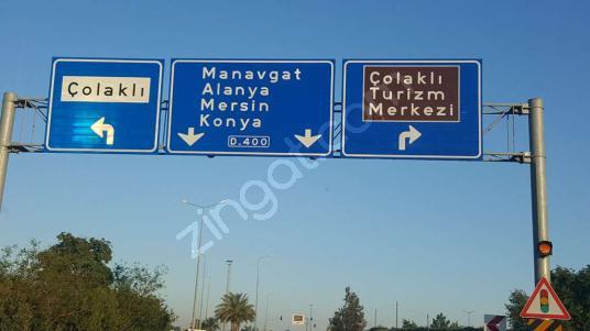 MANAVGAT ÇOLAKLI'DA TURİZM ALANINDA YATIRIMLIK 485 m2 TARLA - undefined