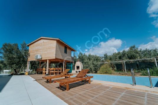 Fethiye'de Doğa ile İç İçe Ortak Havuzlu Büyüleyici Bungalov - Dış Cephe