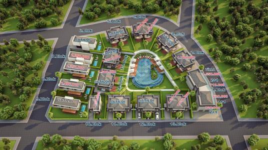 Aydın Kuşadası'nda Özel Havuzlu Satılık Tek & İkiz Villalar - Site İçi Görünüm