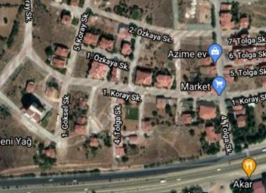 Uşak Merkez Dikilitaş'da Satılık arsa 8 kat imarlı - Harita