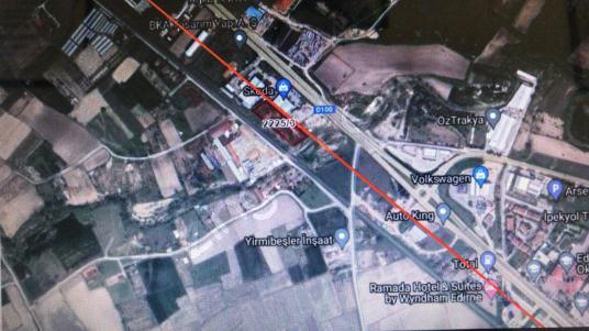 EDİRNE ÖZSOY EMLAK'DAN KİRİŞHANE'DE TİCARİ İMARLI 4700 M2 ARSA - Harita