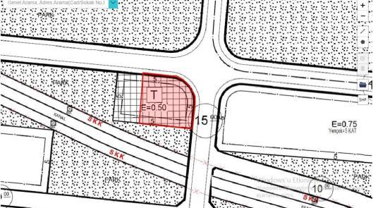 yatırımlık ticari parsel hastane yakını depo hangar yeri V 9130 - Harita