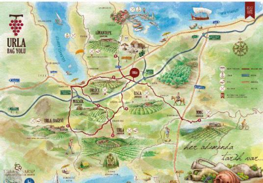 Urla'da Satılık 250 m2 İnşaat İzni Olan 2 Dönüm Bağ. Uzunkuyu - Harita