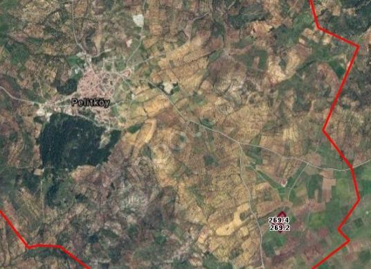 Burhaniye Pelitköy'de Satılık,Kadastral Yola 176mt Cepheli Tarla - Harita