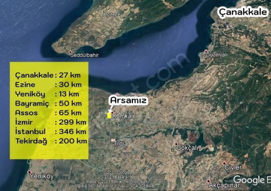 KUMKALE KÖYÜNDE MÜKEMMEL KONUMDA 1334 M2 ARSA - Manzara