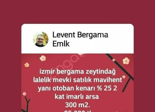 İzmir bergama tırmanlar satılık kadastrol yola 0 köye 1 km.tarla - Logo
