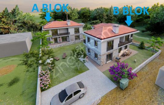 Datça Kızlan Mah. Lansman'dan Geniş Bahçeli 4+1 Lüks Villa - Site İçi Görünüm