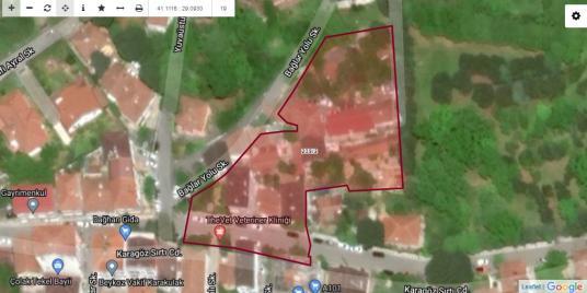 HİSSELİ TAPULU ARSA 237M²-PLOT SHARE FOR SALE in PASABAHCE - Harita