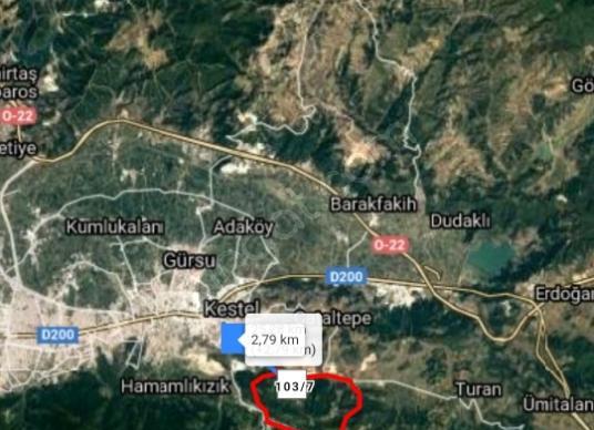 DİALOG TR BURSA KESTEL BURHANİYE MAHALLESİ SATILIK TARLA - Harita