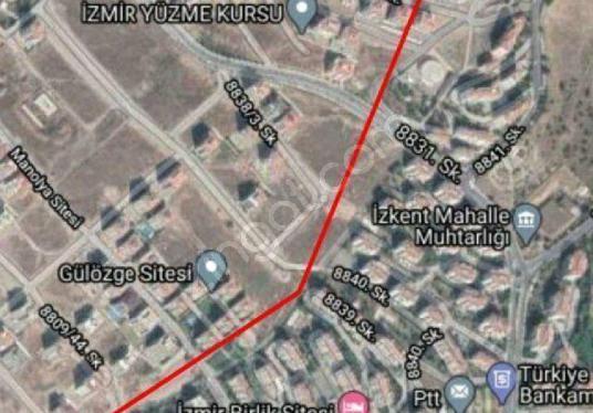 İzmir Çiğli Balatçık Esentepede %45 Kat Karşılığı 2740 M2 Arsa - Harita