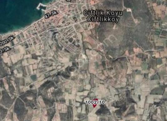 Çeşme Çiftlikköy Altınkum da Satılık Manzaralı Tarla - Harita
