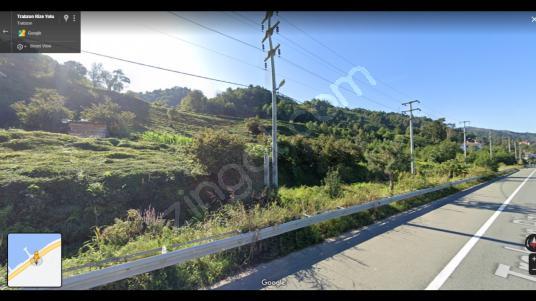 Trabzon Of da Anayola cephe 4250m2 Satılık Arsa - Sokak Cadde Görünümü