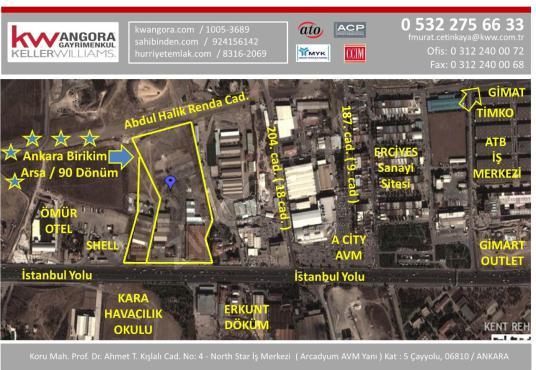 İstanbul Yolu 89.942 m2+Cukurambar 2.750m2 1.250 de 1 Hisse - Kat Planı
