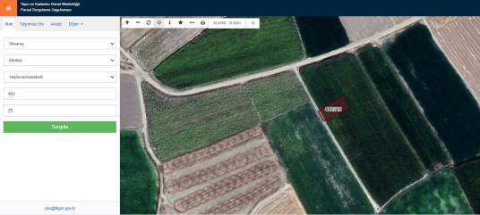 DHG'DEN YEŞİLOVA'DA YATIRIMLIK & BAHÇELİK PARSEL - Harita