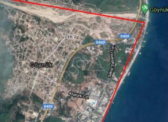 Kemer Göynük'te Satılık Konut İmarlı - Harita