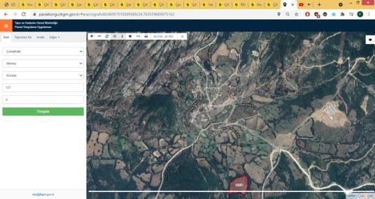 Çanakkale Merkez Kocalar Köyü Mücavir Alana Yakın 13740 m² Arazi - Kat Planı