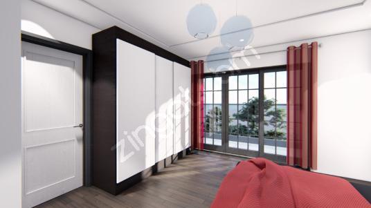 ITP'DEN URLA İSKELE'DE SİTE İÇİNDE DENİZE SIFIR 3+1 VİLLA - Yatak Odası