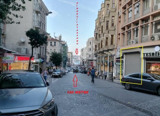 SİRKECİ'de ANKARA CAD.ÜZERİ 19 M2 3.75 M CEPHELİ DÜKKAN - Sokak Cadde Görünümü
