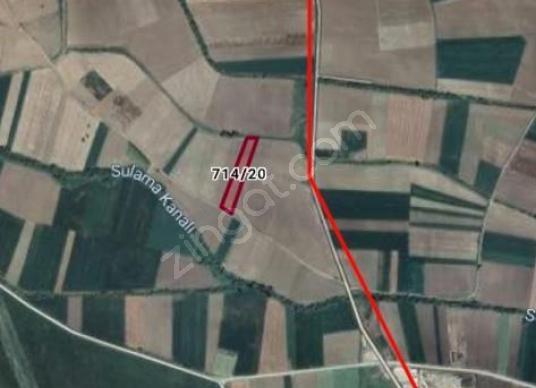 İNÖNÜ MAH 7128 m² SONDAJLI SULAMA KANALI YANI SATILIK TARLA - Harita