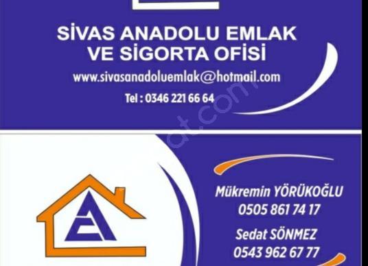 SİVAS ANADOLU EMLAK'TAN MERKEZDE KİRALIK 3+1 4. KAT - Logo