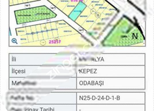 Antalya ODABAŞInda Satılık Arsa - Kat Planı