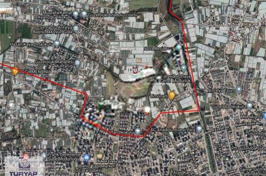 Kırcami Güzeloluk'ta Ticari + Konut 489 m2 Yatırımlık Arsa - Harita
