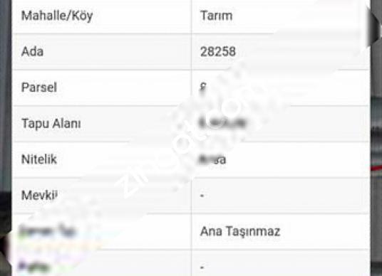 Antalya Kırcamide Satılık Arsa Hissesi - Kat Planı