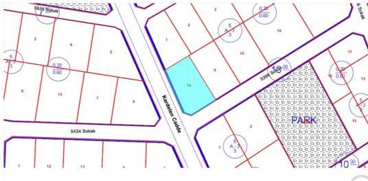 Samyaptan Atakum Büyükoyumca da 793 m2 Satılık Villa Arsası - Kat Planı