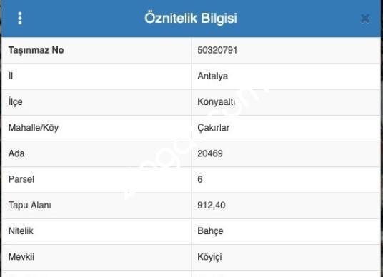 Antalya Konyaaltı'da Çakırlar Mevkinde Satılık Arsa - Logo