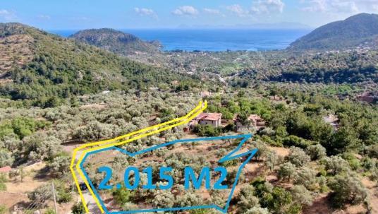 Datça Mesudiye Mahallesi satılık deniz manzaralı imarlı arsa - Manzara