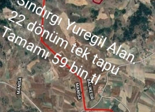 Sındırgı Yüreğil'de Satılık Çiftlik - Arsa