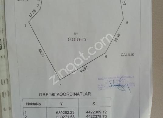 Tepebaşı Avlamış'da Satılık Tarla - Harita