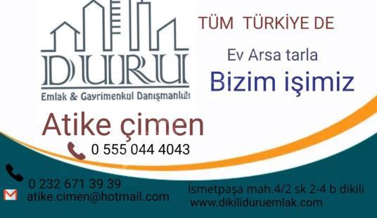 DİKİLİ BADEMLİDE DENİZE  350 METRE  2,360 M2 TARLA  SATILIKTIR - Logo