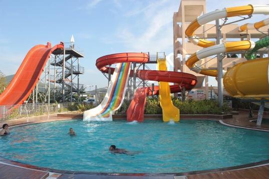 ALANYA KARGICAKTA  TATİL İÇİN KİRALIK 1+1 DAİRE - Yüzme Havuzu