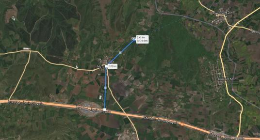KARACABEY MURATLI KÖYÜNDE SATILIK 1500M² TARLA - Harita