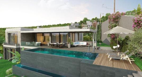 Bodrum Yalıkavak'ta Deniz Manzaralı Ultra Lüks 5+1 Satılık Villa - Yüzme Havuzu