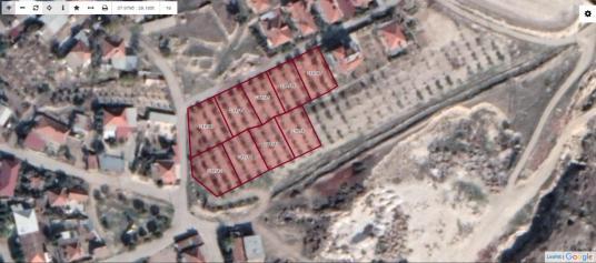 Pamukkale İlçesi Irlıganlı Mahallesin'de Satılık 9 Adet Arsa - Harita