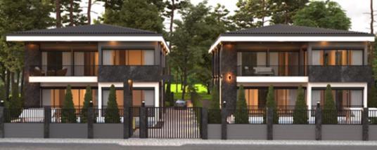 MEHMET NURİ ILDIZ'DAN Döşemealtı Yeşilbayır'da 5+1 Satılık Villa - Dış Cephe