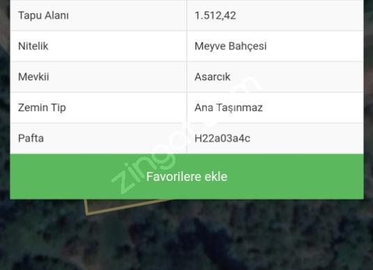 Gemlik  K.kumla Feyza Emlak.tan Satılık arsa - Kat Planı